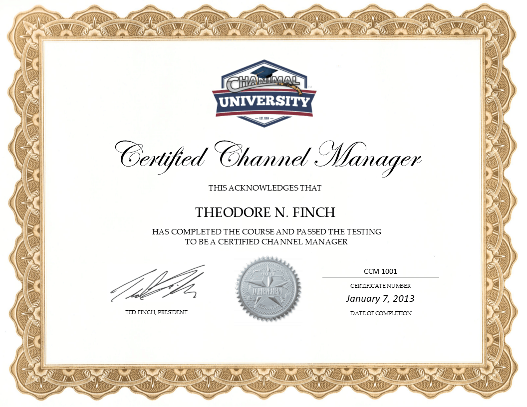Certified Channel Manager Training